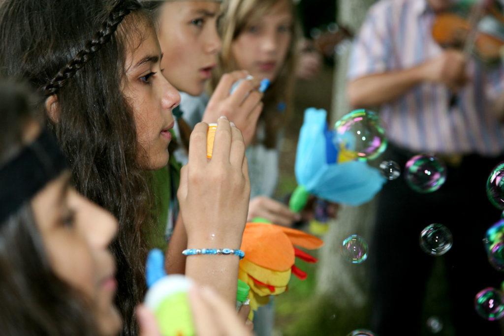 Seifenblasen an Hochzeit