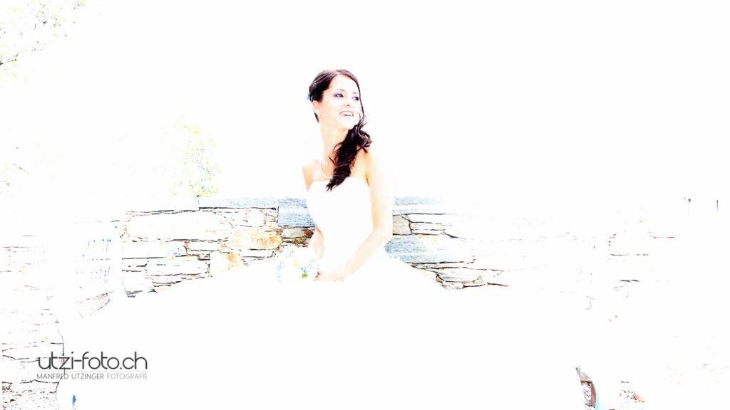 Die Braut in Weiss