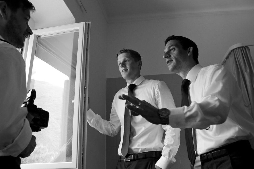Diskussionen mit dem Bräutigam