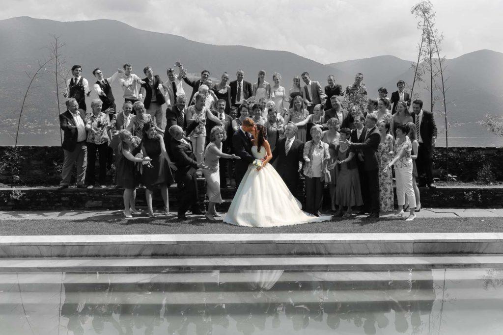 Hochzeitsgesellschaft in Brissago
