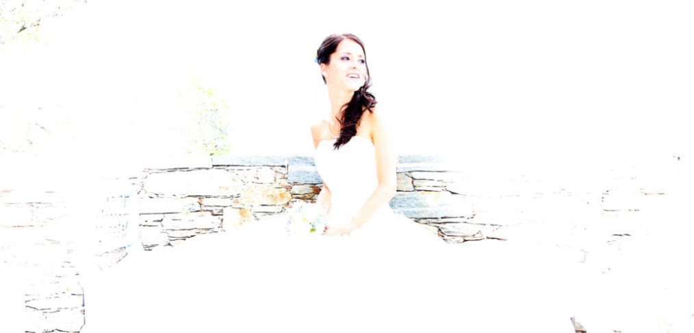 Braut in weiss auf weiss