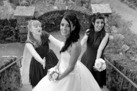 Braut und Trauzeuge auf der Insel Brissago