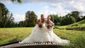 Doppelhochzeit Braut Fotoshooting