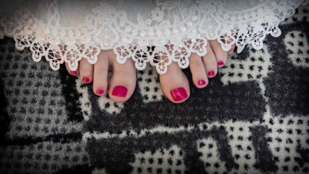 Füsse der Braut