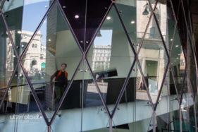 Glasspiegelung in Milano