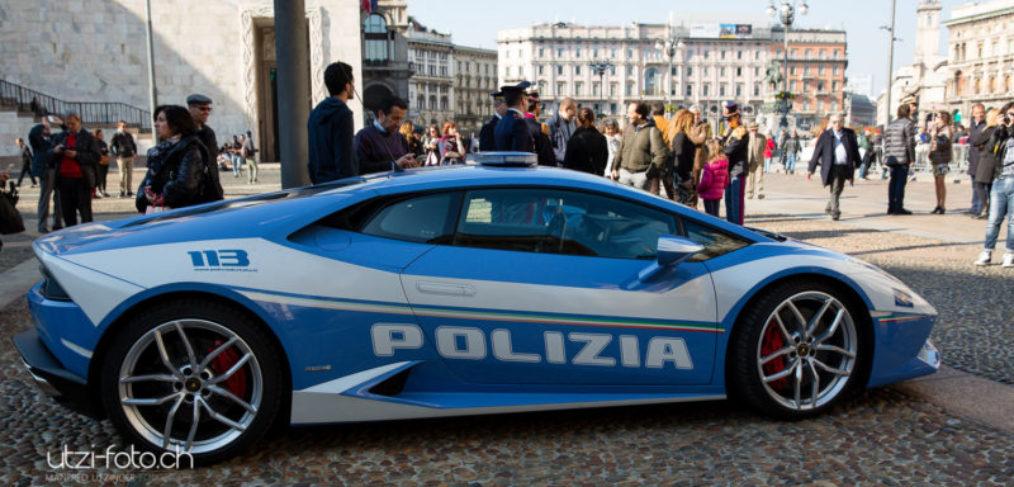 Polizei Lamborghini in Milano