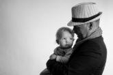 Grossvater und Enkel, Fotoshooting