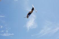 Skisprung uns Blaue