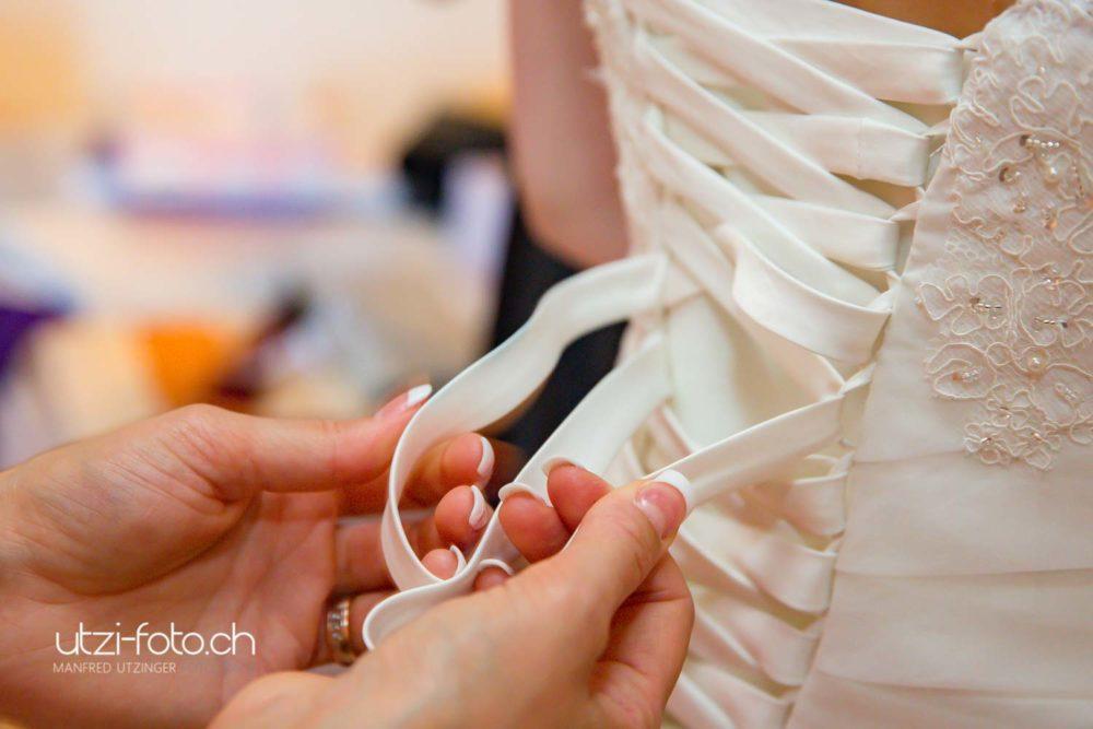 Hochzeit Brautkleid von Fotograf Zürich