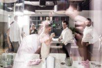 Hochzeitspaar Spiegelung