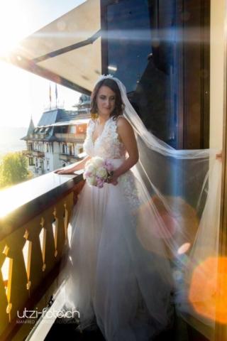 Braut im Dolder Grand nach der Ziviltrauung