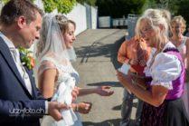 Gratulationen an Hochzeit