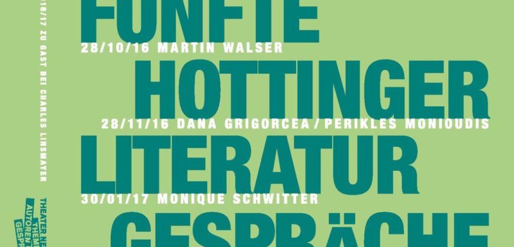 Flyer Hottinger Literaturgespräche